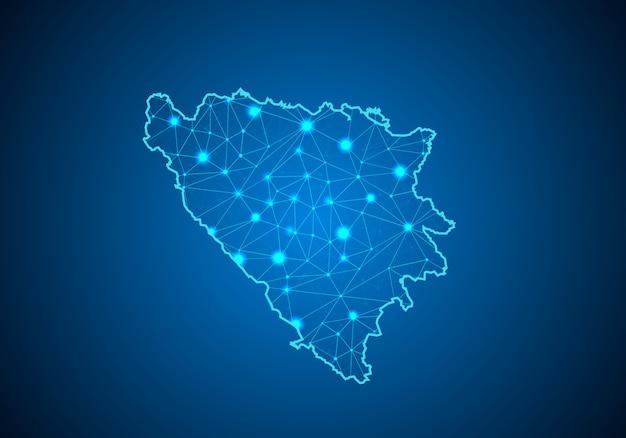 Carte de la bosnie-herzégovine.
