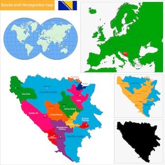 Carte de bosnie-herzégovine