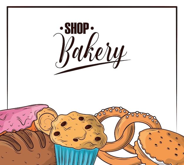 Carte de boulangerie boutique