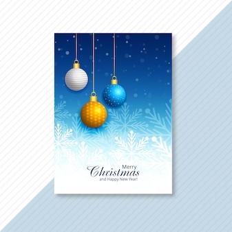 Carte de brochure joyeux noël célébration