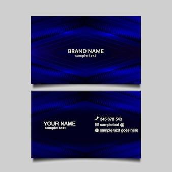 Carte bussines lumière bleue