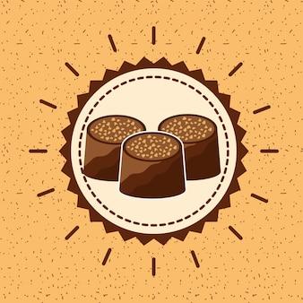 Carte de cacao au chocolat