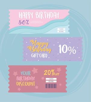 Carte cadeau d'anniversaire