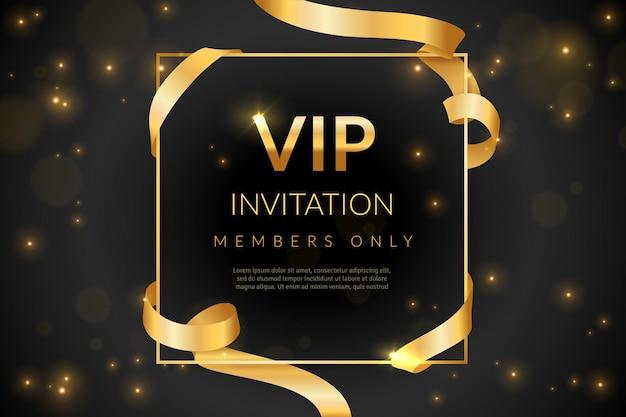 Carte-cadeau de luxe, illustration de coupon invitation vip