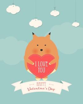 Carte-cadeau romantique saint-valentin