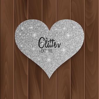 Carte-cadeau saint valentin avec texture scintillante