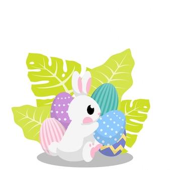 Carte-cadeau de vecteur de jour de lapin de pâques