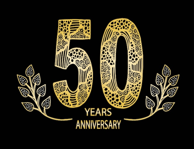 Carte de célébration d'anniversaire de 50 ans