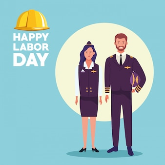 Carte de célébration de la fête du travail