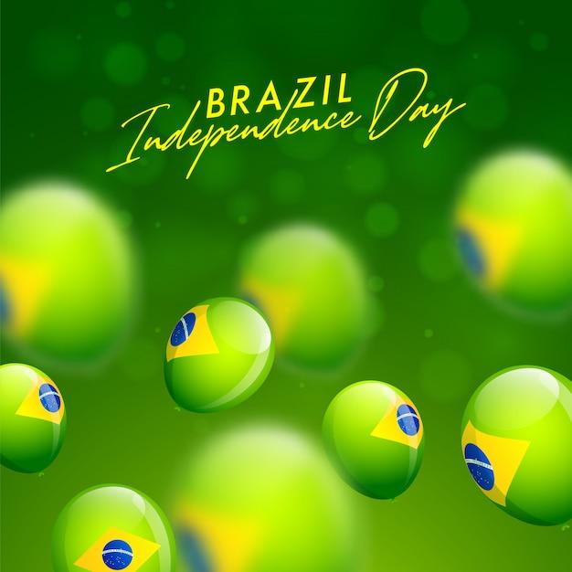 Carte de célébration de la fête de l'indépendance du brésil