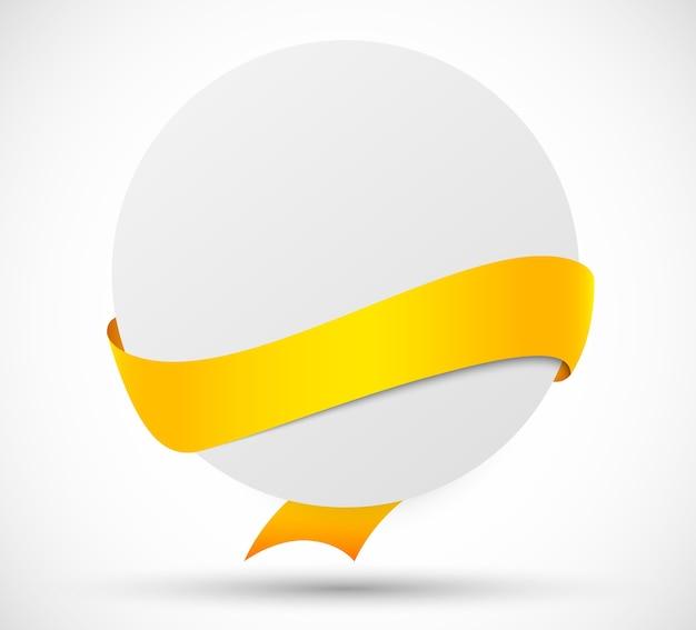 Carte de cercle avec ruban jaune