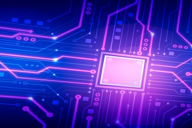 Carte de circuit au néon