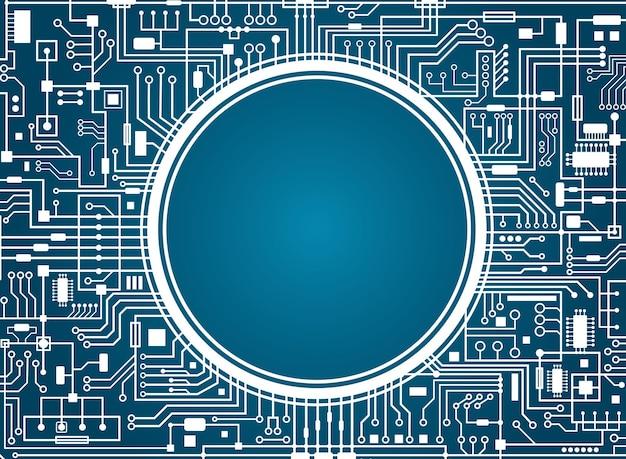 Carte de circuit informatique.