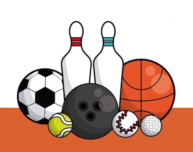 Carte de collection d'équipement de balles de sport