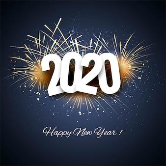 Carte colorée créative 2020 nouvel an