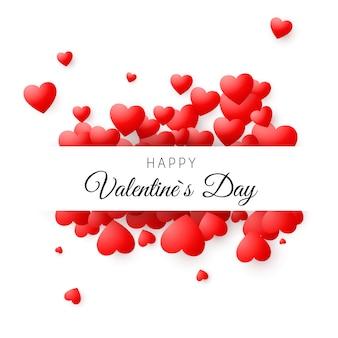 Carte colorée - happy valentines day. concept de carte de voeux romantique. fond de saint valentin