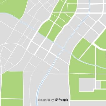 Carte colorée de la ville avec des informations