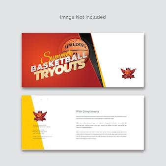 Carte de compliment pour les essais de basket-ball