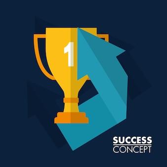 Carte de concept de succès