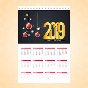 Carte de conception de calendrier de noël avec le vecteur de fond créatif