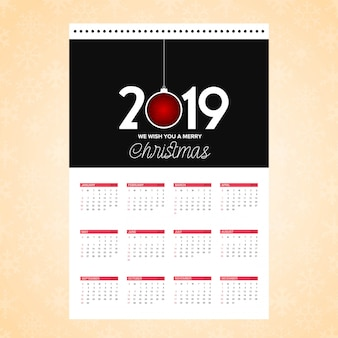 Carte de conception de calendrier de noël