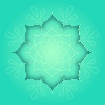 Carte de conception indienne avec concept de rangoli vert et motif de mandala