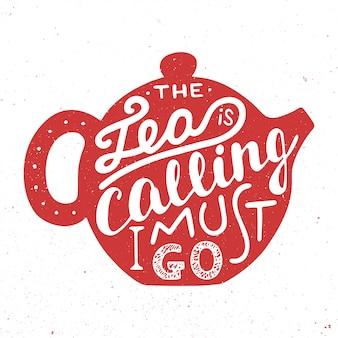 Carte avec conception de typographie unique dessinée à la main