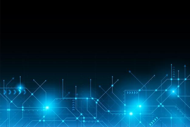 Carte de connexion de circuit futuriste abstraite