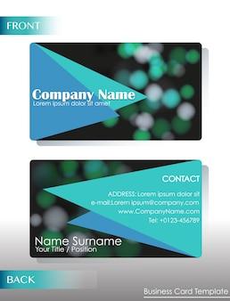 Une carte de contact d'entreprise sur fond blanc