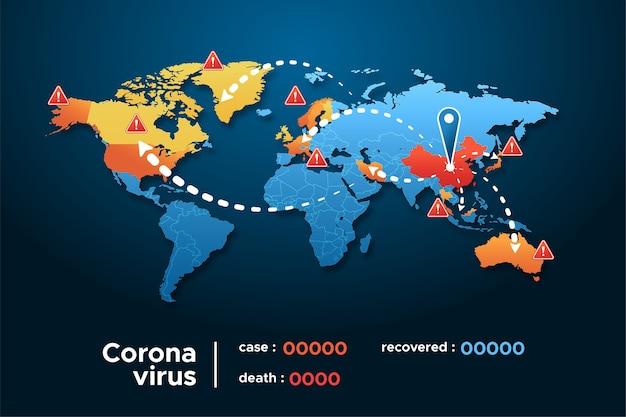 Carte des coronavirus