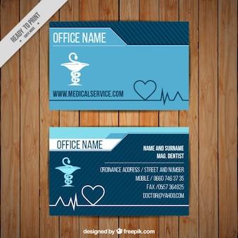 Carte corporative médicale avec le symbole de caducée
