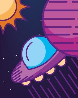 Carte cosmique de la galaxie spatiale
