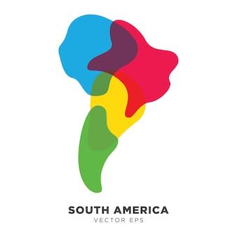 Carte créative d'amérique du sud