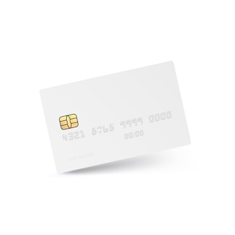 Carte de crédit blanche isolée.