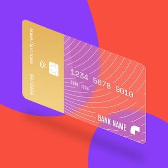 Carte de crédit effet verre isométrique