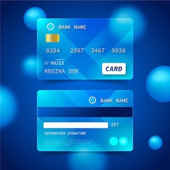 Carte de crédit effet verre réaliste