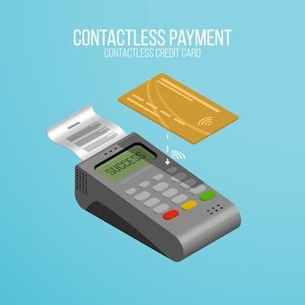 Carte de crédit golden et paiement sans contact