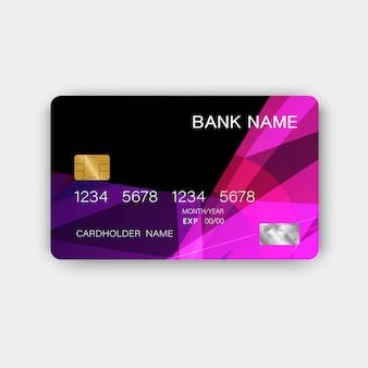 Carte de crédit. avec l'inspiration de l'abstrait.