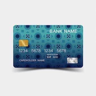 Carte de crédit. inspiré de l'abstrait.