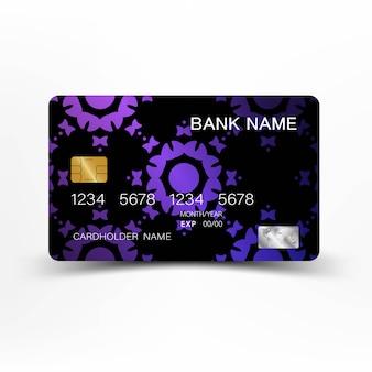Carte de crédit luxueuse en plastique brillant.