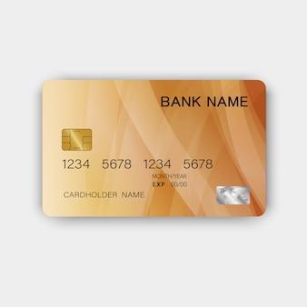 Carte de crédit luxueuse en plastique brillant