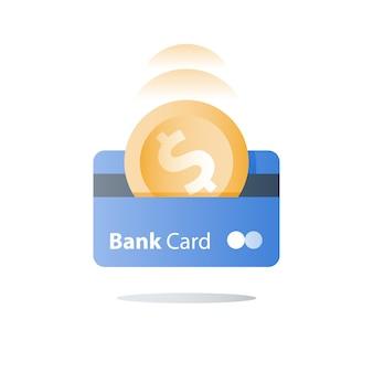 Carte de crédit, mode de paiement, services bancaires, prêt facile, programme de remise en argent
