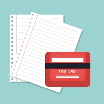Carte de crédit et papier