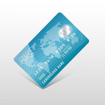 Carte de crédit en plastique de vecteur