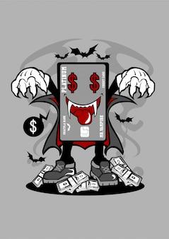 Carte de crédit vampire