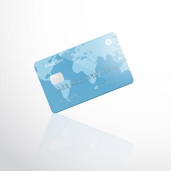 Carte de crédit vide isolée