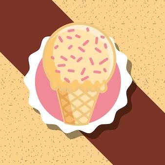 Carte de crème glacée
