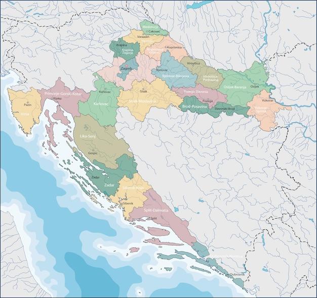 Carte de la croatie