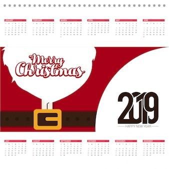 Carte de conception de calendrier de Noël avec fond créatif