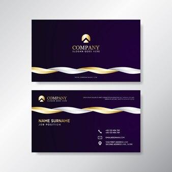 Carte de visite de luxe avec blanc et or
